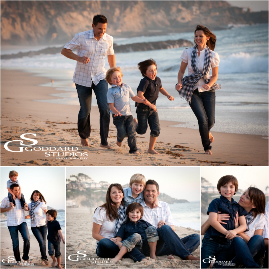 Family Pictures In The Beach: Laguna Beach Family Portrait Photography » Goddard Studios